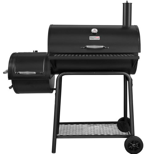 Royal Gourmet Charcoal Grill with Offset Smoker - smoker grills