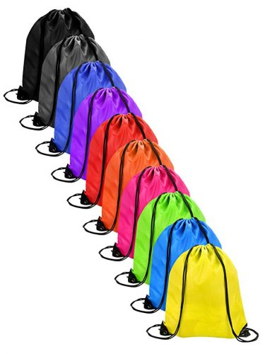 Shappy 10 Pieces Drawstring Bag Sack Pack Cinch Tote Kids Adults Storage Bag for Gym Traveling - Drawstring Bags