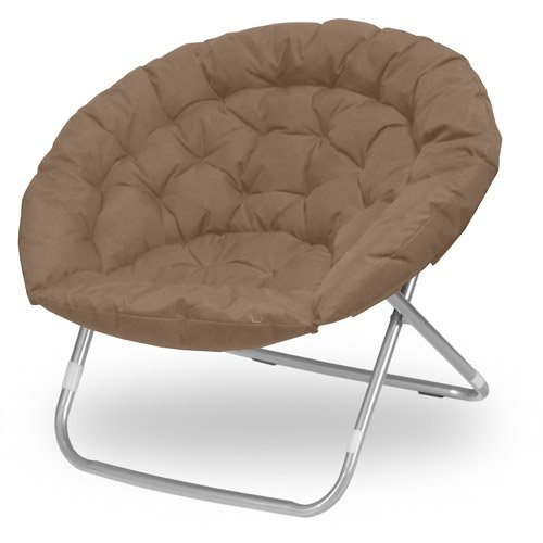 Oversized Folding Moon Chair, Multiple Colors, Large, Round (Khaki)