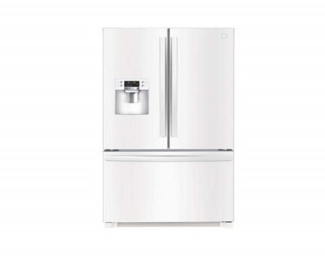 Kenmore 73042 25.6 cu.ft. French Door Refrigerator with Bottom-Freezer in White, includes delivery and hookup