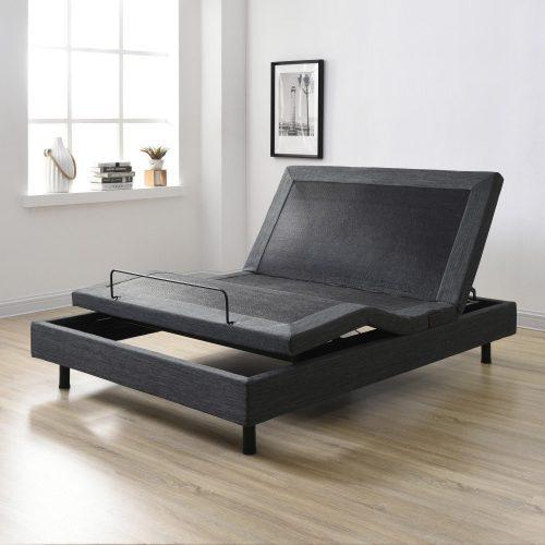 Classic Brands Adjustable Comfort Affordamatic Upholstered Adjustable Bed Base/Foundation, Full