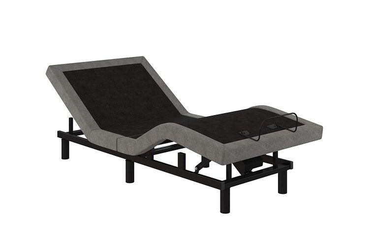 Signature Sleep Power Adjustable Bed Base/Foundation, Remote Control, Grey Linen - Twin XL size