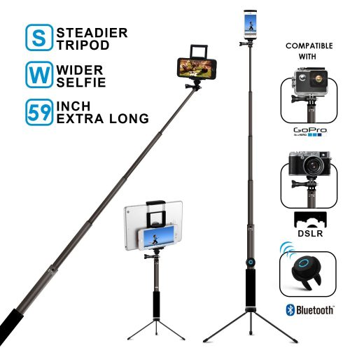 Bluetooth Selfie Stick with Tripod,
