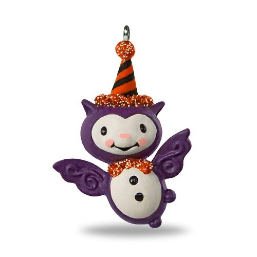 Hallmark Keepsake Halloween Decor Mini Ornament 2020 Year Dated, Bitty Bat Miniature, 1.41""
