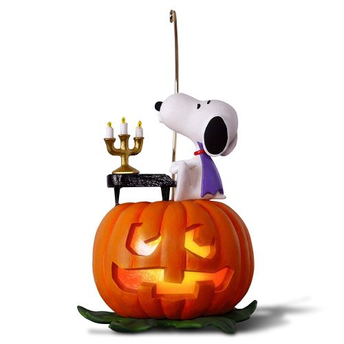 Hallmark Keepsake Halloween Decor Ornament 2020 Year Dated, Snoopy and Pumpkin, The Peanuts Gang Spooky Snoopy with Music and Light