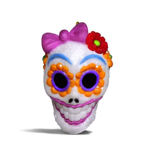 Hallmark Keepsake Halloween Decor Mini Ornament 2020 Year Dated, Sugar Skull Gal Miniature, 1""