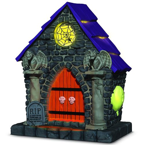 Hallmark Keepsake Halloween Decor Ornament 2020 Year Dated, Haunted House Ghostly Mausoleum with Music and Light