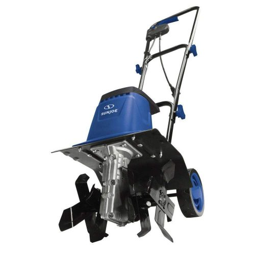 Sun Joe TJ602E-SJB 12-Inch 8-Amp Electric Garden Tiller/Cultivator, Dark Blue - electric tillers