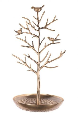 Inviktus Silver Birds Tree Jewelry Stand Display Earring Necklace - jewelry stands