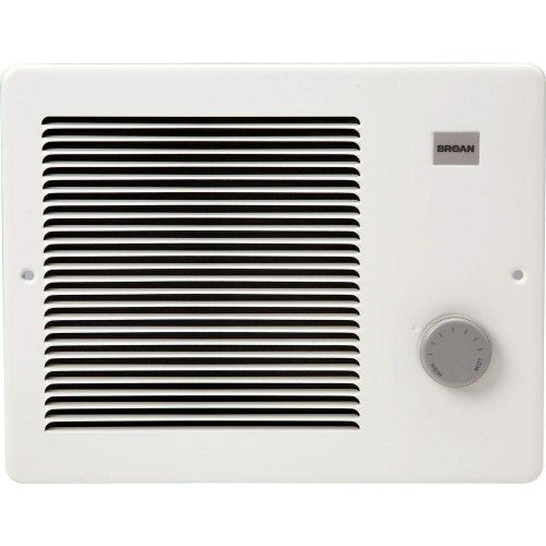 Broan 174 Wall Heater, 750/1500 Watt 120 VAC, White Painted Grille - wall mounted electric heaters
