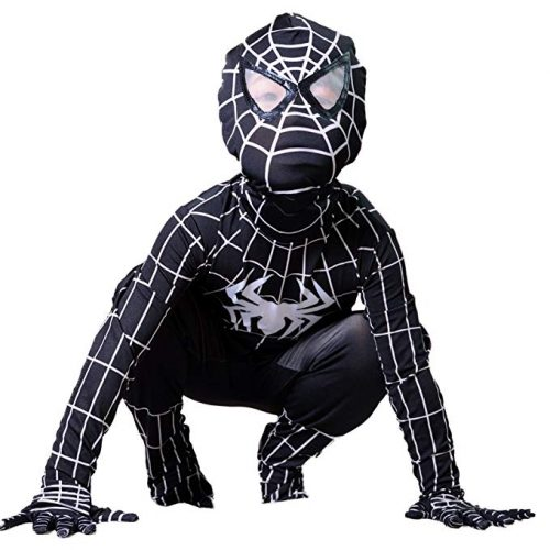 Boys Venom Black Spiderman Costume Kids Cosplay Spandex Bodysuit - Spiderman Costume for Kids
