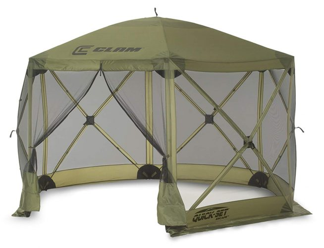 Quick Set 9281 Escape Shelter, 140 x 140-Inch Portable Popup Gazebo - camping screen house