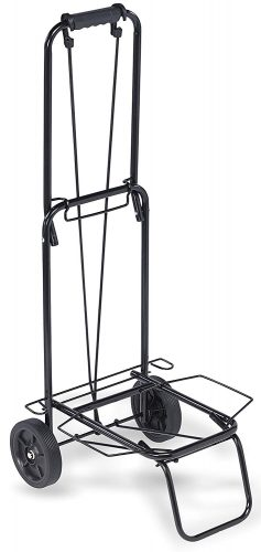 """TOP PACK"" 75 lbs.Premium Folding Shopping Grocery Luggage laundry Cart - Black - Luggage carts"