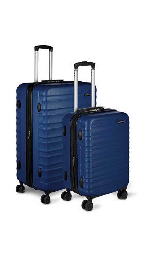 """AmazonBasics Hardside Spinner Luggage - 2 Piece Set (20"""", 28""""), Black - luggage sets"""