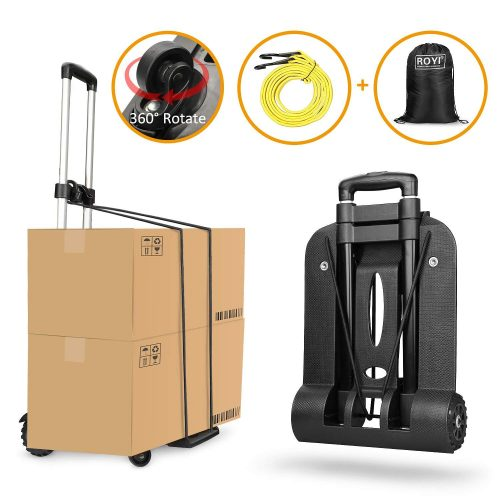 Folding Hand Truck 4 Wheel-rotate Heavy Duty Solid - Luggage carts
