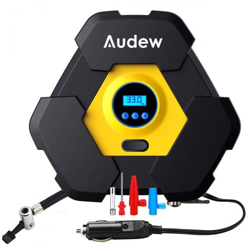 Audew Portable Air Compressor Pump, Auto Digital Tire Inflator - Portable Air Compressors