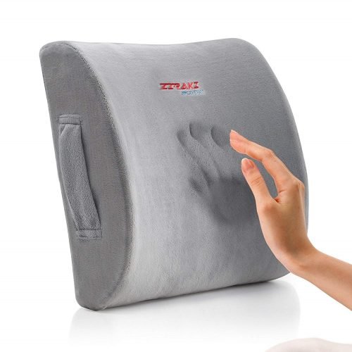 ZIRAKI Memory Foam Lumbar Cushion - Premium Lumbar Support Pillow - Lumbar support pillows
