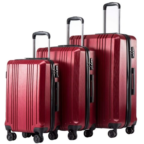 Coolife Luggage Expandable Suitcase 3 Piece Set with TSA Lock Spinner 20in24in28in - luggage sets