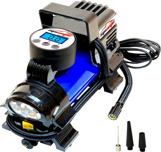 EPAuto 12V DC Portable Air Compressor Pump, Digital Tire Inflator by 100 PSI - Portable Air Compressors