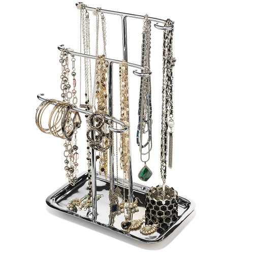 H Potter Jewelry Organizer Necklace Holder Tree Tower 3 Tier - jewelry stands