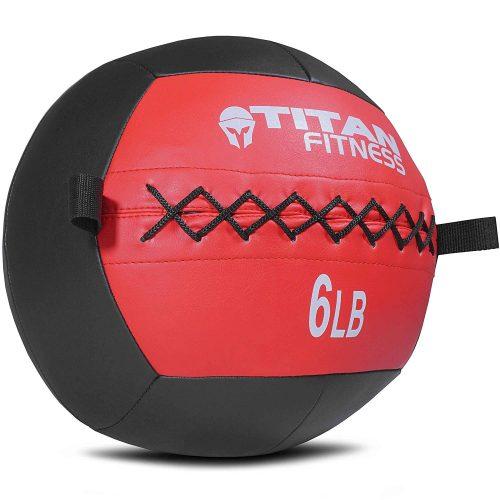 Titan Soft Wall Ball Medicine 6-30 lb Core Workout Cardio Muscle Exercises - medicine balls