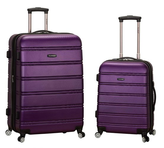 Rockland Luggage 20 Inch 28 Inch 2 Piece Expandable Spinner Set, Purple, One Size - luggage sets