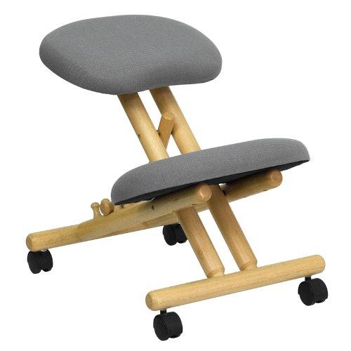 Flash Furniture Wooden Ergonomic Kneeling Posture Office Chair - Ergonomic Kneeling Chairs