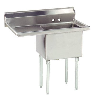 Economy Single Fabricated Bowl Scullery Sink - Drainboard Sink