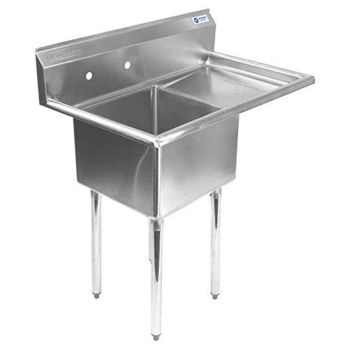 Gridmann 1 Compartment NSF Stainless Steel - Drainboard Sink