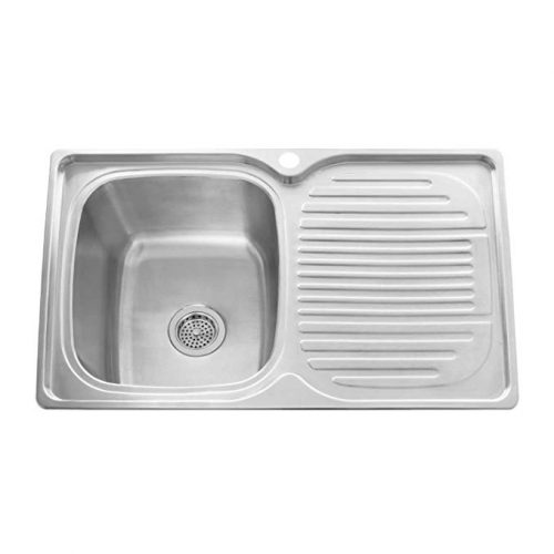 "Naiture 32"" Stainless Steel Rectangular Drop-In Prep Sink - Drainboard Sink"