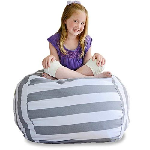 Creative QT Stuff Stuffed Animal Storage Bean Bag Chair - Bean Bag Chairs For Kids