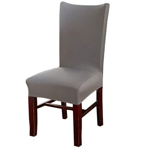 Knit Spandex Fabric Stretch Dining Room Chair Slipcovers - Dining Chair Seat Covers