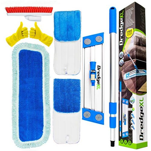 "Temples Pride Professional 18"" Microfiber flat mop kit - Home Dry Cleaning Starter Kit"