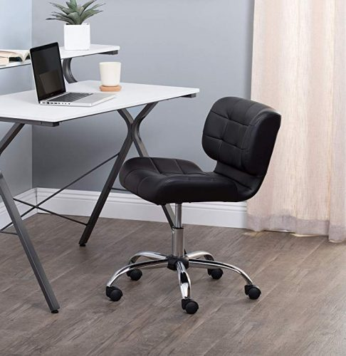 Calico Designs 10658 Modern Black Crest Office Chair - Minimal Design Office Chair