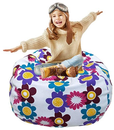 Kid Stuffed Animal Storage Chair  - Bean Bag Chairs