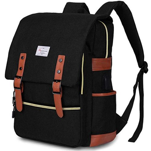 Modoker Vintage Laptop Backpack for Women Men - College Backpacks For Men And Women