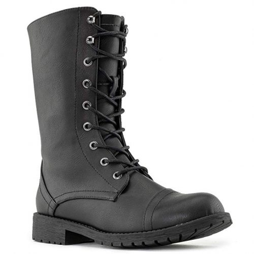RF ROOM OF FASHION | Women's Ankle Lace up Combat Boots - Combat Boots For Women