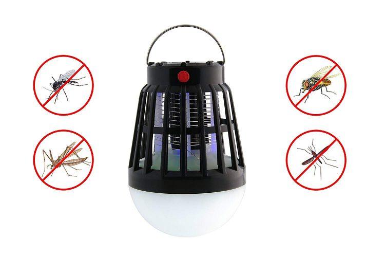BLQH Solar Powered Bug Zapper Light