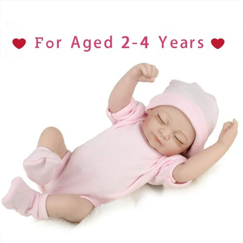 PENSON & CO... RBB012700 Reborn Newborn Baby Realike Handmade Lifelike Silicone Vinyl Weighted Alive Doll for Toddler Gifts 10""