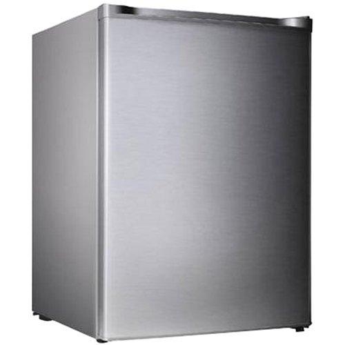 Midea WHS-109FSS1 Compact Single Reversible Door Upright Freezer, 3.0 Cubic Feet, Stainless Steel