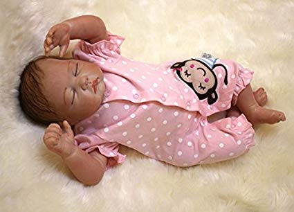 "OtardDolls Reborn Doll 20"" Reborn Baby Doll Lifelike Soft Vinyl Silicone Doll Children Gifts (Cute Monkey Pattern)"