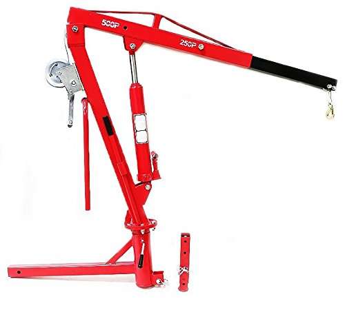500lb Crane Hitch Mount Lift Pickup Truck Hydraulic Pwc Dock Jib Engine Hoist - truck cranes