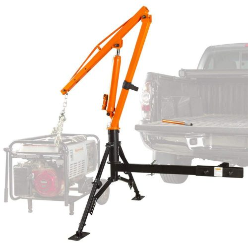 Apex Hydraulic Hitch-Mount Pickup Truck 1,000 lb Jib Crane - truck cranes