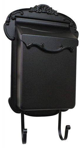 Special Lite Products SVV-1013-BLK Vertical Mailbox, Black - wall mount mailboxes
