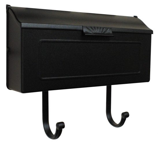 Special Lite Products SHH-1006-BLK Horizontal Mailbox, Black - wall mount mailboxes