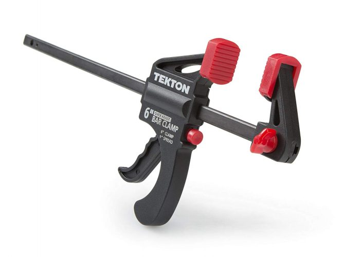 TEKTON Mini Ratchet Bar Clamp, 9-Inch Spreader | 39180 - woodworking clamps