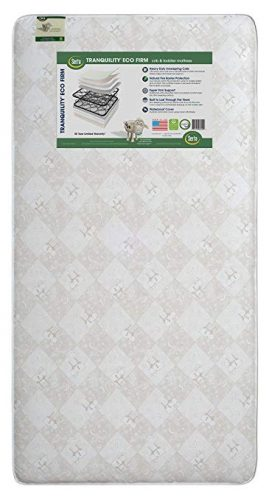 Serta Tranquility Eco Firm Innerspring Crib and Toddler Mattress | Waterproof - crib mattress