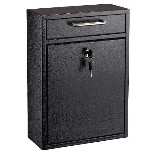 AdirOffice Locking Drop Box Wall Mounted Mailbox - wall mount mailboxes