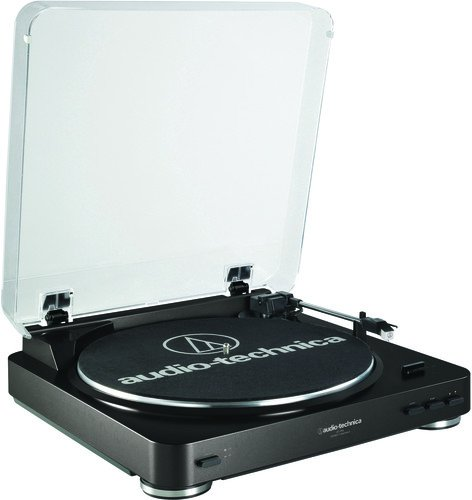 Audio Technica AT-LP60BK Fully Automatic Belt-Drive Stereo Turntable - Christmas Gifts for Him
