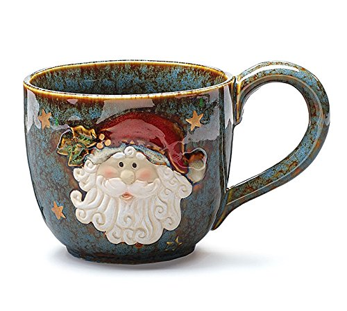 Large Santa Clause 30 Oz Christmas Soup Mug - Christmas Mugs